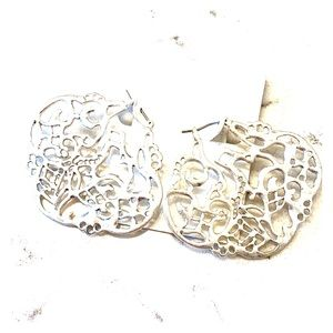✨NWT Jessica Simpson Lady Chic Silver Earrings